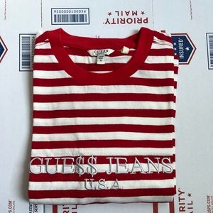Guess ASAP ROCKY David Reactive Red Striped Tee